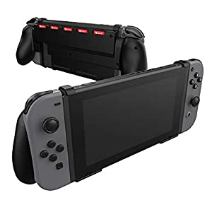 Comfort Grip Case for Nintendo Switch With Game Storage – Protective Cover for use on the Nintendo Switch Console in Handheld GamePad Mode with built in Game Storage – BLACK