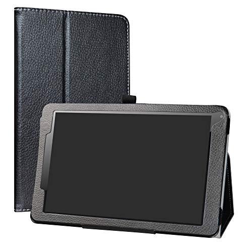 """LiuShan Odys Titan 10 LTE hülle, Folding PU Leder Tasche Hülle Case mit Ständer für 10.1\"""" Odys Titan 10 LTE Android Tablet PC,Schwarz"""