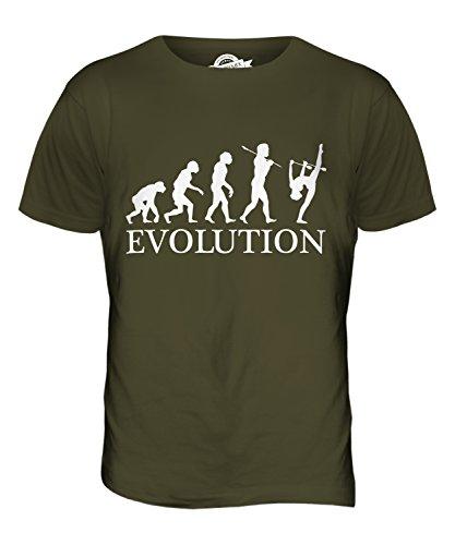CandyMix Rhythmische Gymnastik Clubs Evolution Des Menschen Herren T Shirt Khaki Grün