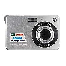 CamKing VideoCamcoder Digitalkamera 1080P FHD, Mini 2,7 Zoll Digital Videokamera Taschenkameras DigitalKamera für Kompaktkameras Reisen Kinder(Silber)