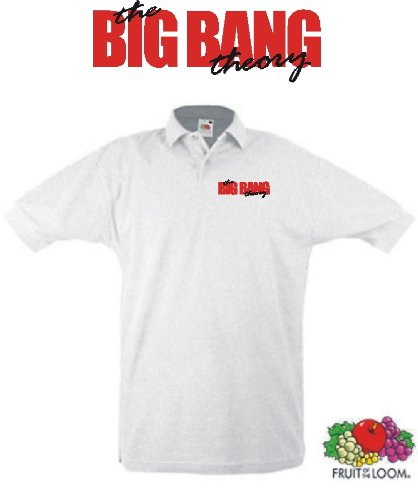 world-of-shirt Herren Polo Shirt The Big Bang Theory Weiss