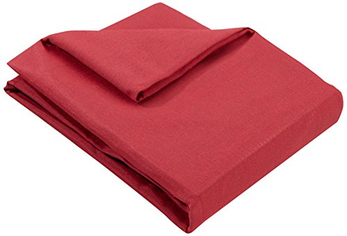 Zebra Textil 21465, Copridivano BERET con ottomana a sinistra, colore Rosso