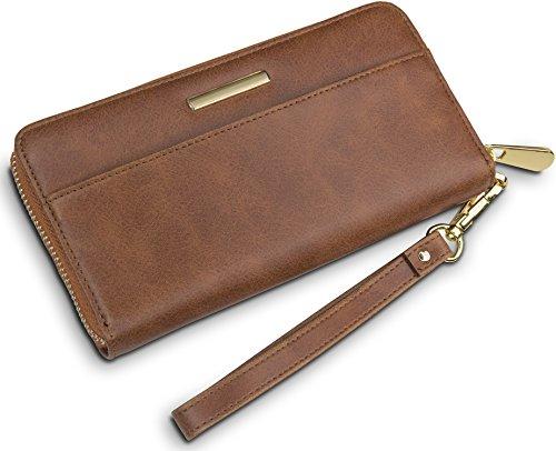"""TRAVANDO ® Geldbörse Damen mit RFID Schutz """"MILANO"""" - Geldbeutel groß, Portemonnaie lang, Portmonee, Brieftasche, Damengeldbeutel, Damenbörse, Damengeldbörse, Damenportemonnaie, Wallet"""