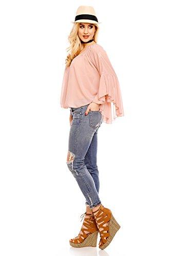 Mayaadi - Camicia - Senza spalline  - Basic -  donna rosa antico