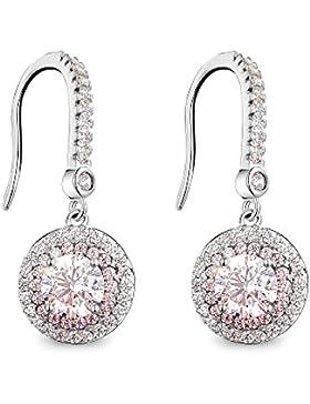 T400 Jewelers S925 Sterling Silber Angelhaken Ohrringe mit Zirkonia Liebe Geschenk gemacht