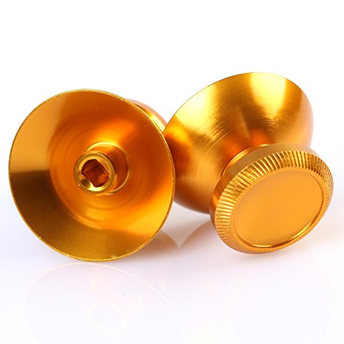 Price comparison product image Bei wang Aluminum Alloy Metallic Metal Analog Thumbstick for XBOXONE / PS4 original handle-Gold