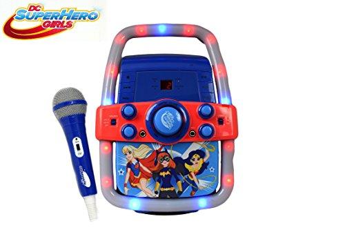 Kinder-Karaoke-Maschine Portable Speaker Kit für Kinder / Kinder Spielzeug mit Mikrofon Superheld Mädchen Flashing Bar Karaoke mit MP3-Player AUX Jack-Point für Verbinden Sie Ihr iPad, iPhone, iPod, Tablet-Gerät, oder der CD-Player spielt Musik und Mitsingen! (Super Hero Girls)