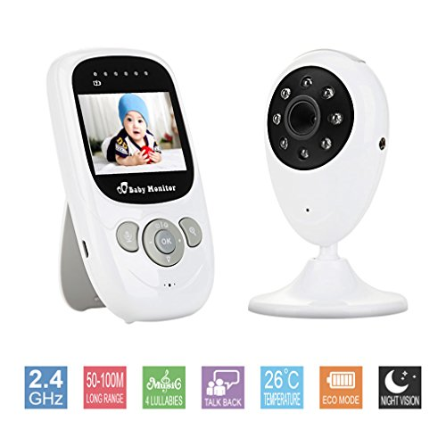 Video Baby Monitor Wireless Digital with Camera 2.4 inch Color LCD Display and Temperature Sensor Support Two-way Intercom 41OlFCCehOL