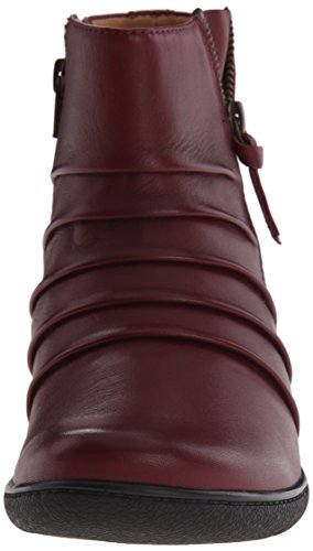 Clarks Kearns Blush Boot Burgundy Leather