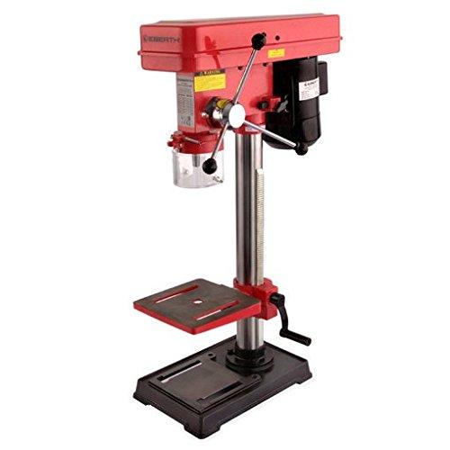 Preisvergleich Produktbild EBERTH DP1-E550 Tischbohrmaschine Bohr Gerät (550 Watt, 60 mm Bohrtiefe, 2600 U/Min, 5 Geschwindigkeitsstufen) rot