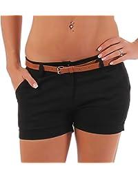 Malito Damen Chino Shorts in Unifarben   lässige Kurze Hose   Bermuda für  den Strand   0c5372252d