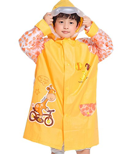 es-uk Kids Boys & Girls Raincoat Yellow - Blue - Pink Age 3-9 Years