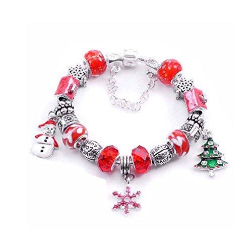 erlen Armband Wirstband Link Schneemann Schneeflocke Tree Ornament für Weihnachtsfeier (Schneemann Ornament)