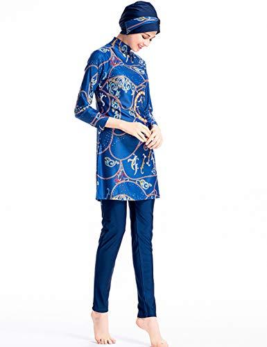 besbomig Modesty Muslimische Badeanzug für Frauen - Islamischer Burkini Full Cover Bademode Muslim Badebekleidung Damen Swimwear Schwimmanzug mit Hijab - 3