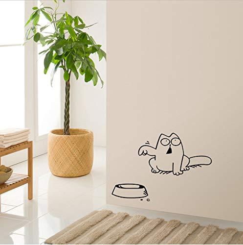 Zhimu funny cartoon cat auto laptop finestra wall sticker bowl cat decor stickers decalcomanie wallpaper3pcs