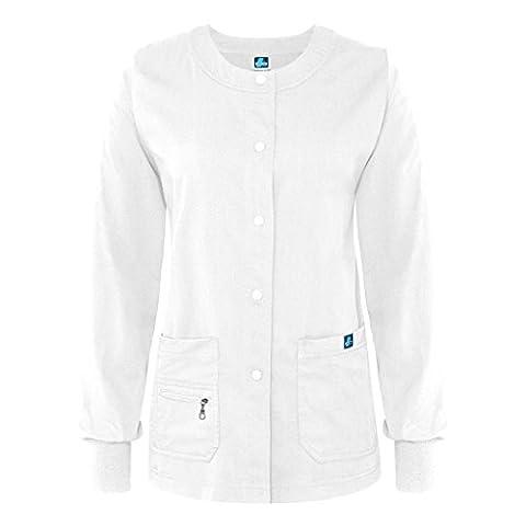 Adar Indulgence Jr Fit Multi Pocket Warm-Up Scrub Jacket -