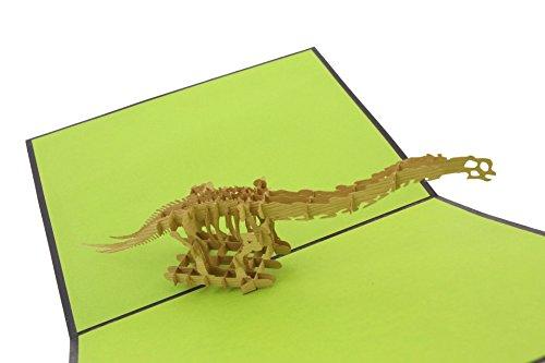 Zeichen Jungen Buch Kostüm Für - PopLife Greeting Cards Dinosaurier Brontosaurus 3d Grußkarte Pop-up - alle Gelegenheiten