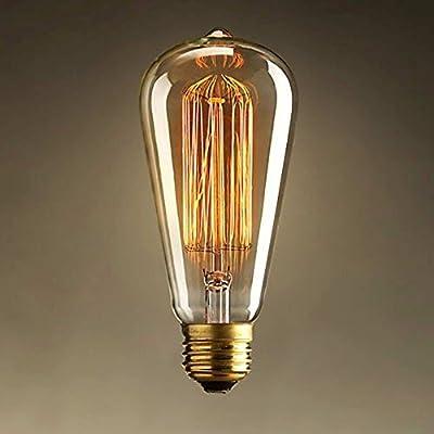 CMYK® Antike Edison Vintage MasterGlobe Glühbirne (40W, E27, 220-240V) Ideal für Nostalgie und Retro Beleuchtung