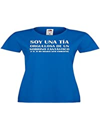Camisetas divertidas Parent Soy Una Tia Orgullosa de Un Sobrino Fantastico, y Si, el