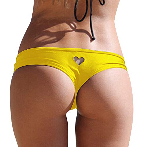 Tuopuda Bikini Slip Perizoma Donna Sexy Bikini Bottom a Forma di Cuore Costume da Bagno a Slip Brasiliano Bikini Tanga Perizoma Tanga Swimsuit Beachwear