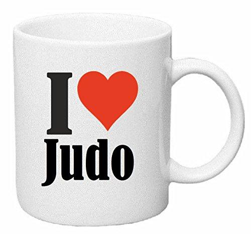 taza para café I Love Judo Cerámica Altura 9.5 cm diámetro de 8 cm de Blanco