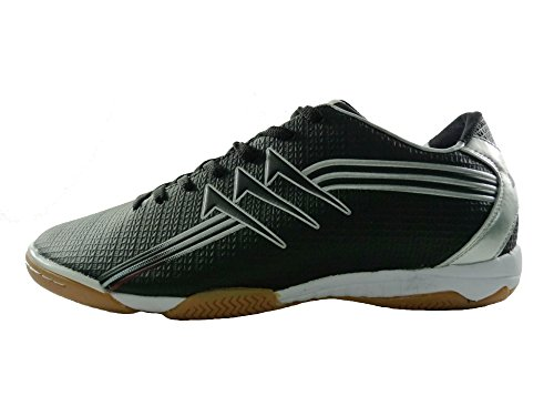 51d7ee8852c3 Agla Professional New Five Indoor Football Shoes Room With Anti-Shock Black  Size: 7 UK