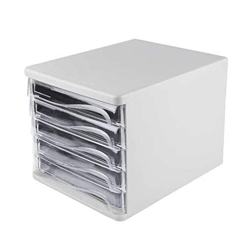 XSWZAQ Schublade Datei Korb Datei Box Supermarkt Desktop Mode Ordner fünfschichtigen Aktenschrank (Color : White) -