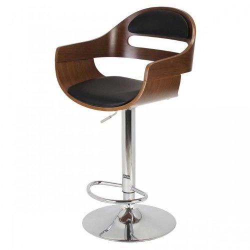 La Chaise Longue 32-M2-003 Fauteuil de Bar en Forme Kubrick Hêtre Marron 50 x 47 x 92 cm