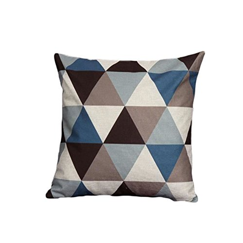 Haodou Geometrisch Form Design Kissenbezug Weich Leinen Kissenbezug  Dekorativ Kissenbezug 45 X 45cm Für Kinder Sofa
