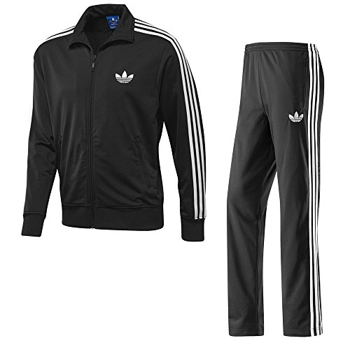 adidas Firebird komplett Herren Trainingsanzug Medium schwarz - schwarz (Firebird Adidas)