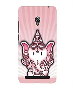 For Asus Zenfone 6 A600CG -Livingfill- Little cartoon Ganesha Printed Designer Slim Light Weight Cover Case For Asus Zenfone 6 A600CG (A Beautiful One of the Best Design with a Classic Theme & A Stylish, Trendy and Premium Appeal/Quality) (Red & Green & Black & Yellow & Other)