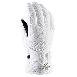 Viking Handschuhe Winter Skihandschuhe Damen – mit Verzierungen – atmungsaktiv und wasserdicht – mit Aqua Thermo TEX und Thinsulate – Barocca