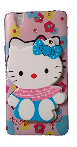 ANVIKA Mickey Lovely Cute Mirror Kitty Silicone Soft TPU Back Case Cover for Micromax YU Yureka 5510 / Yureka Plus + (Colours May Vary)