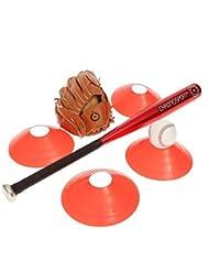 Kit complet baseball batte alu + gant + balle + plots