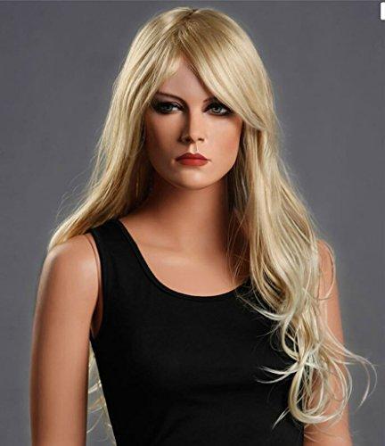 Beauty Smooth Hair Damen Lang Blonde Lockig Wellig Voll Peruecken Party Haar Cosplay Peruecke (Cosplay Blonde Perücke Lange)