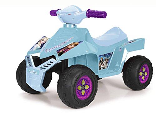 FEBER Famosa 800010444 Disney Frozen - Quad Motorrad Spielzeug, für Kinder 18 Monate bis 3 Jahre, 6V