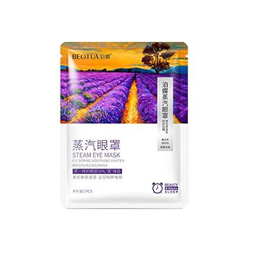 Streaming Augenmaske Auto-Hitze Schlafmaske für Augen Entlasten Augen Spa Maske Lavendel Duft (Lavendel A 10Pcs)