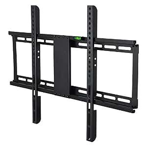 BPS Support TV Mural Fixe pour téléviseur de 32-70 pouces (80-180cm) en acier mince - Fixation murale VESA Max 400(H)x600(L) mm - Charge maximale 55 kg(121lbs) - Support mural tv ultra-fin convenable à 4K 3D d'écran plat et incurvé