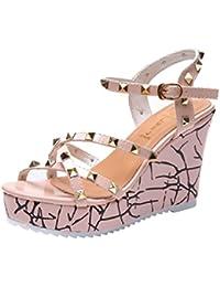 GTVERNH-i sandali donna summer spesse scarpe primavera partita doppia fila fibbia moda pearl sandali.…