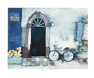 Toile 'Via Galileo Galilei V' par Rosina Wachtmeister - Taille de l'image L 60 cm x H 50 cm