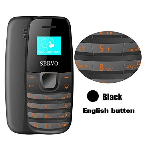 Roebii SERVO S09 Bluetooth Dialer Mini-Handys,Mini-Größe 0,66 Zoll winzigen Bildschirm GSM Low Radiation Dual-SIM-Bluetooth-Kopfhörer,Original 2 in 1 Handheld-Telefon-Headset(68 * 28,5 * 13,5-30 mm) (Bildschirm Großer Verizon-handys)