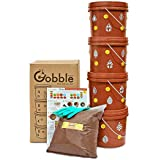 Daily Dump Gobble Senior Plastic Indoor Compost Bin Kit - for Converting All Kinds of Kitchen Food Waste Into Fertilizer