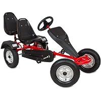 TecTake Go Kart per bambini a pedali rosso per 2 posti con pedali