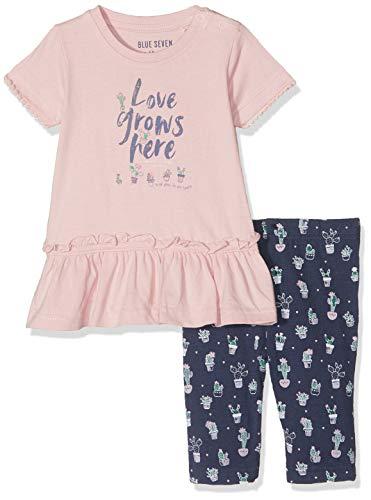 Blue Seven Baby-Mädchen Bekleidungsset 2er Set: Tunika+Capri, (Rosa 409), (Herstellergröße: 68)