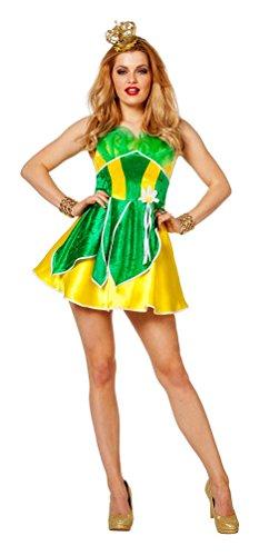 'Karneval Klamotten' Märchen Kostüm Froschkönigin Frosch Damen-Kostüm Kleid Karneval Fasching Damenkostüm Größe (Kostüm Märchen Für Prinzessin Baby)
