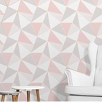 Fine Decor Fractal Geometric Marble Wallpaper Rose Gold
