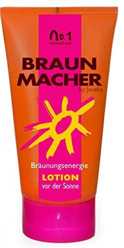 Joveka Braunmacher Lotion, Bräunungsintensivierer mit einem Hauch Selbstbräuner, 150 ml, 1-er Pack