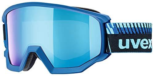 Uvex Erwachsene Athletic FM Skibrille, Blue matt, One Size