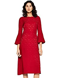 FIND Robe Mi-Longue Évasée Femme