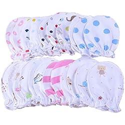 5 pares recién nacido Baby Manoplas säugling Pastel arañazos algodón Manoplas 0 - 6 meses (5 pares)